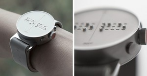 Bored Panda | World's first braille smartwatch lets blind people feel...