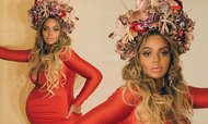 Beyonce dons a crown and bump-hugging gown to Wearable Art Gala